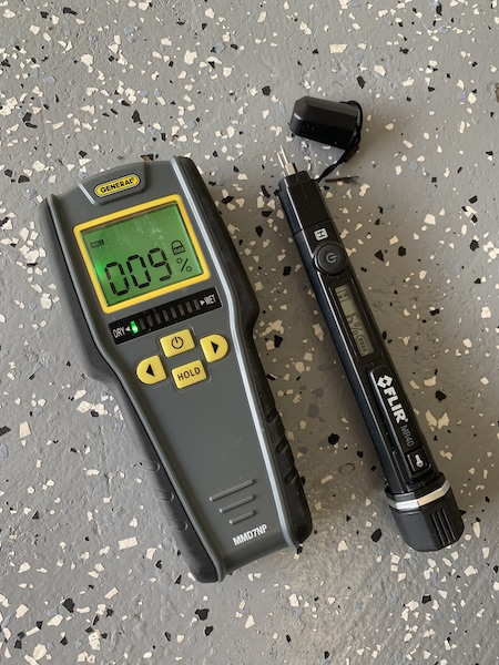 Moisture meters used for inspecting for RV and motorhome water leaks