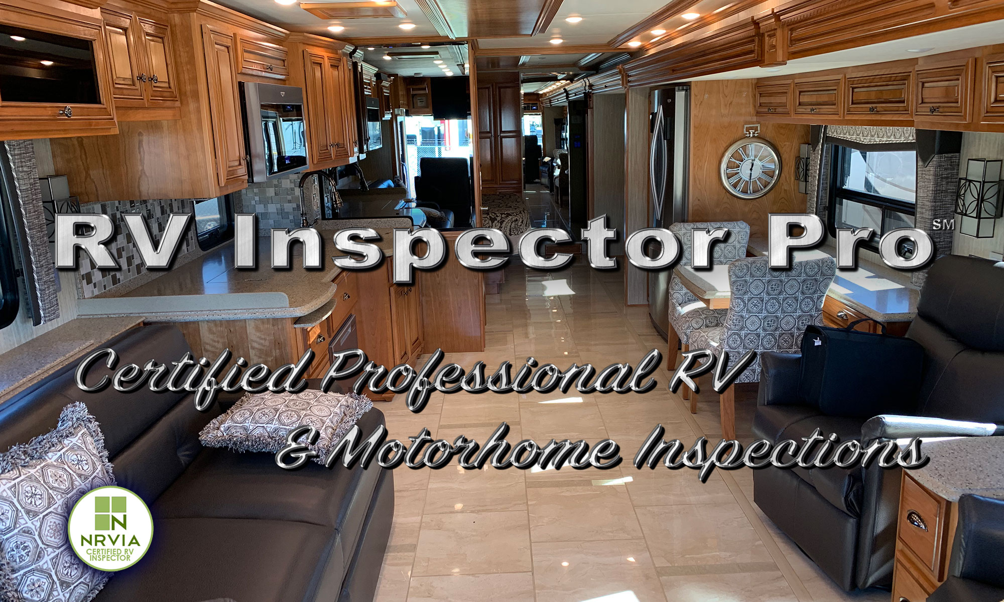 Motorhome Interior with RV Inspector Pro Logo